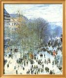 Boulevard des Capucines Poster van Claude Monet