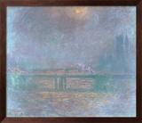 Charing Cross La Tamise Plakater af Claude Monet