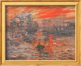 Impression, Sonnenaufgang (grün) Kunstdrucke von Claude Monet