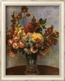 Flowers in a Vase Poster von Pierre-Auguste Renoir