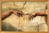 Creation of Adam, c.1510 Poster di Michelangelo Buonarroti,