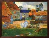 Farm At Pouldu Prints by Paul Gauguin