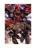Revolutionary War: Omega No. 1: Captain Britain, Dark Angel, Deaths Head II Metal Print