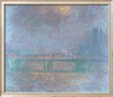 Charing Cross La Tamise Posters af Claude Monet