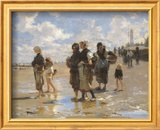 Oyster Gatherers of Cancale Reprodukcje autor John Singer Sargent