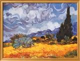 Campo di grano con cipressi, ca. 1889 Poster di Vincent van Gogh