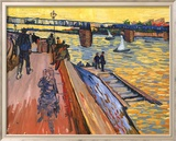 The Bridge at Trinquetaille Posters af Vincent van Gogh