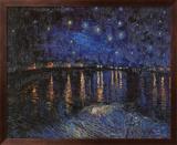 Sternennacht über der Rhône, ca. 1888 Kunstdruck von Vincent van Gogh