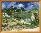 Thatched Cottages at Cordeville Kunstdruck von Vincent van Gogh