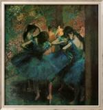 Dancers in Blue Kunstdrucke von Edgar Degas
