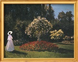 Woman in a Garden Plakater af Pierre-Auguste Renoir
