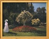 Pierre-Auguste Renoir - Woman in a Garden Obrazy