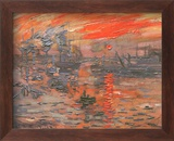 Impression, Sunrise Plakat af Claude Monet