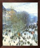 Boulevard des Capucines Poster af Claude Monet
