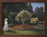 Woman in a Garden Poster von Pierre-Auguste Renoir