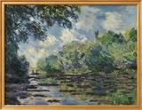Section of the Seine, near Giverny Plakat av Claude Monet