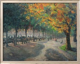 Hyde Park, London Print by Camille Pissarro