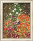 Flower Garden Print by Gustav Klimt