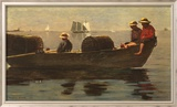 Three Boys in a Dory Poster von Winslow Homer