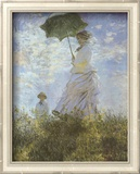 Woman with Parasol and Child Pôsters por Claude Monet