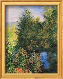 Corner of the Garden at Montgeron Poster van Claude Monet