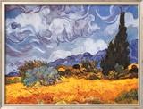 Campo de trigo con cipreses, ca. 1889 Láminas por Vincent van Gogh