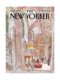 The New Yorker Cover - April 28, 1986 Premium Giclee Print by James Stevenson