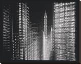 Chrysler Building Motion Landscape 4 Stretched Canvas Print by Len Prince