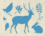 Woodland Creatures IV Posters by Clara Wells
