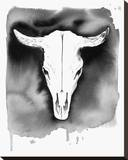 Cow Skull Stretched Canvas Print by Jessica Durrant
