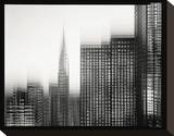 Chrysler Building Motion Landscape 1 Stretched Canvas Print by Len Prince