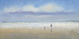 Beachside Stroll Giclee Print by Michael J. Sanders