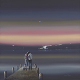 Harbour Lights Giclee Print by Steve Johnston