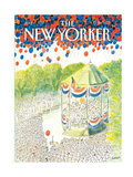 The New Yorker Cover - July 6, 1987 Regular Giclee Print by Jean-Jacques Sempé