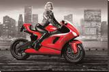 Marilyn's Motorcycle Stretched Canvas Print by JJ Brando