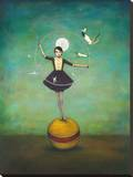 Luna's Circle Stretched Canvas Print by Duy Huynh