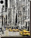 Somewhere in New York City Stretched Canvas Print by Loui Jover