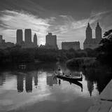 Gondolier Central Park at Dusk Wall Decal by Henri Silberman