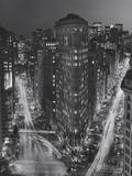 Flatiron Building, New York City at Night 3 Wall Decal by Henri Silberman