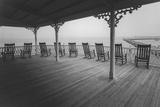 Block Island Rocking Chairs - Eastern Seashore Vacation Rhode Island Autocollant par Henri Silberman