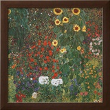 Farm Garden with Sunflowers, c.1912 Art by Gustav Klimt
