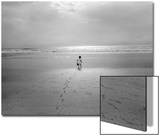 St. Augustine, Florida - Child On The Beach Atlantic Ocean Prints by Henri Silberman
