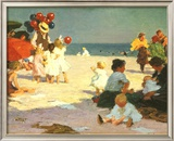 On the Beach (Potthast) Poster by Edward Henry Potthast
