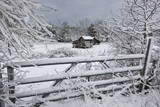 Snow Covered Gate and Old Farm Wall Decal by Henri Silberman
