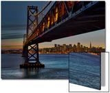 Oakland Bay Bridge with San Francisco Skyline Prints by Henri Silberman