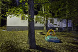 Trailer in Woods with Toys (Night) Wall Decal by Henri Silberman