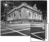 Grand Central Station, NY at Night - NY City Landmarks at Night Print by Henri Silberman