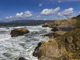 Sutro Baths, San Francisco, CA 2 (Surf and Rocks) Kalkomania ścienna autor Henri Silberman