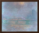 Charing Cross La Tamise Prints by Claude Monet