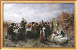 The First Thanksgiving Posters by Jean Leon Gerome Ferris